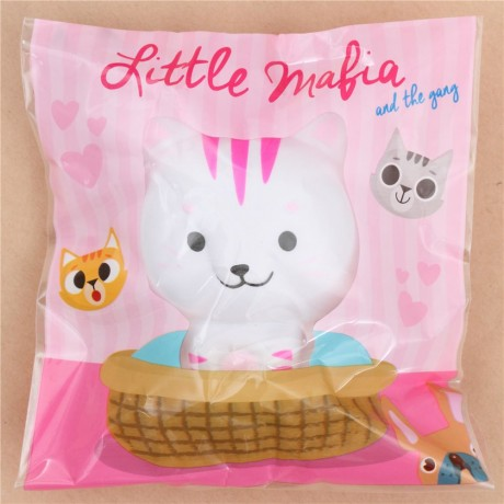 White Squishy Face Cat : Faulty - cute white Chawa Little Mafia Lucky Cat kitty squishy kawaii - Cute Squishy Shop