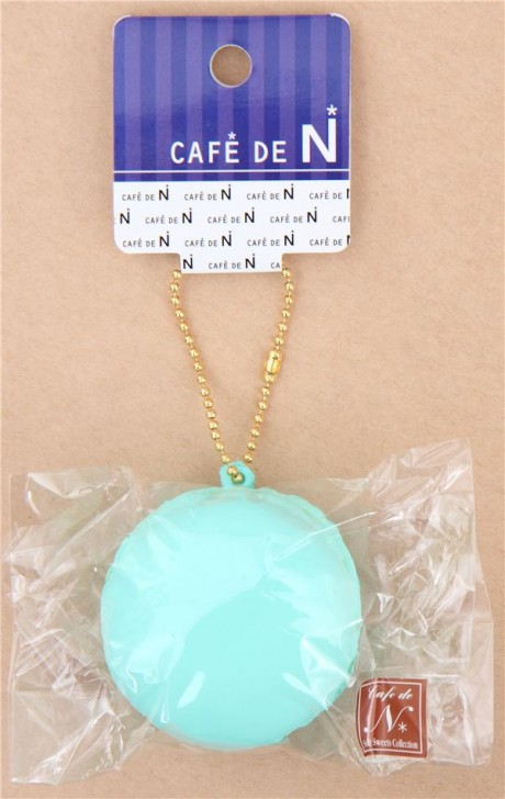 Squishy Cafe De N : Adorable turquoise macaron squishy Cafe de N - Cute Squishy Shop