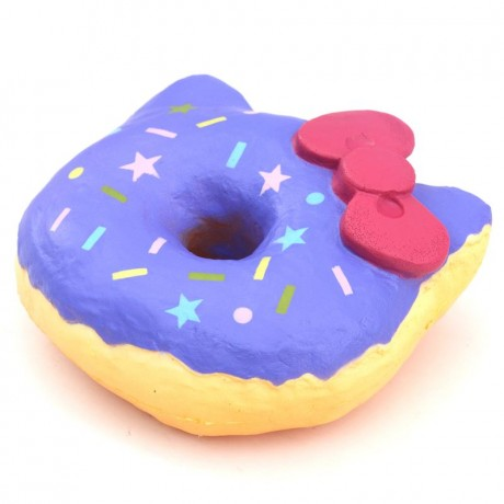 Hello Kitty Donut Squishy Size : purple colorful star shape Hello Kitty donut squishy charm - Cute Squishy Shop