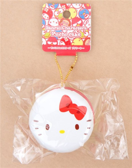Hello Kitty Squishy Cake And Stand : Faulty - cute Hello Kitty round cake Puchi cake sweet treat squishy for bag - Cute Squishy Shop