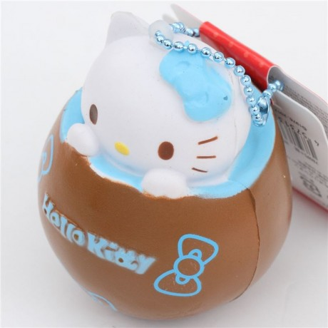Squishy Chocolate Kitty : brown Hello Kitty chocolate blue filling squishy - Cute Squishy Shop