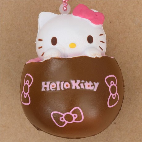 Squishy Chocolate Kitty : brown Hello Kitty chocolate pink filling squishy - Cute Squishy Shop