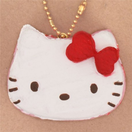 Hello Kitty Squishy Cake And Stand : Adorable Hello Kitty pink cake strawberry bow squishy - Cute Squishy Shop
