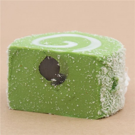 Adorable green roll cake with magnet squishy - Cute Squishy Shop