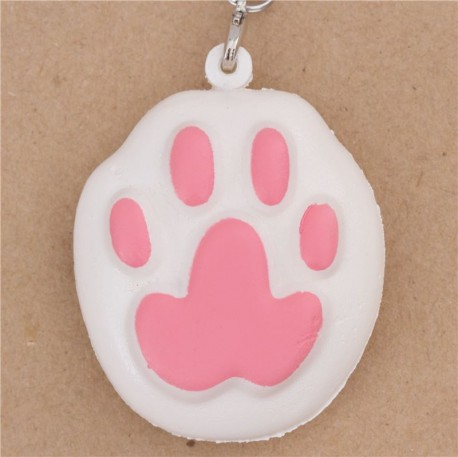 Squishy Tag Printables : white animal squishy with pink cat paw - Cute Squishy Shop